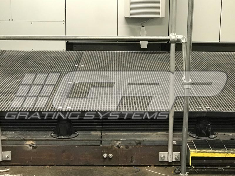 GRP Mini Mesh walkway installation at Jaguar Landrover