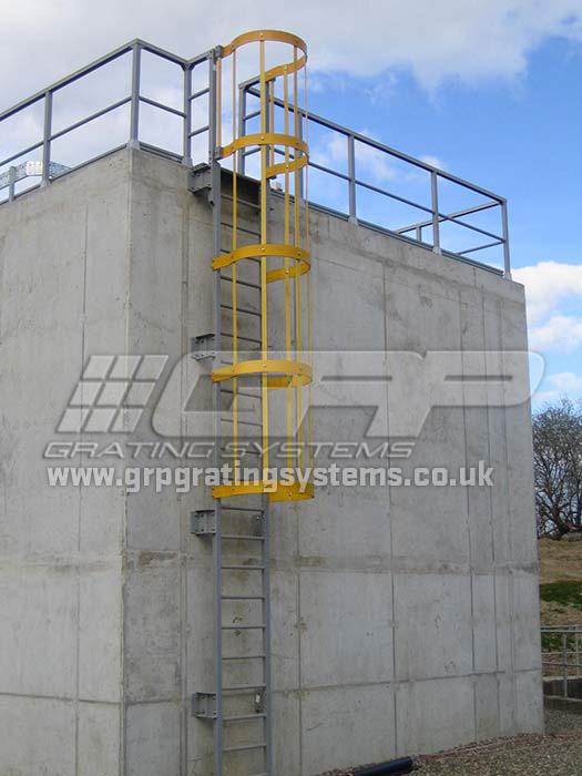 Fibreglass GRP Ladders - Non-slip ladders - GRP Grating Systems